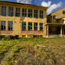 Abandoned school building in Sarnes, North Cape municipality, Finnmark