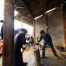 The blacksmith in Bac Ha fair
