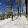 Goethe hut on Kickelhahn mountain in winter, Ilmenau, Thuringia, Germany