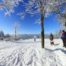 At Kickelhahn mountain  in winter, Ilmenau, Thuringia, Germany