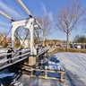 Winter joy on the Vecht river Weesp