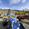 Tractor Display at Pinnacle Mountain Lodge in Alaska