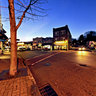 Twilight in Downtown Maplewood, New Jersey, USA