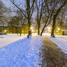 Liberec - Gutenbergova Park Winter Night