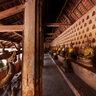The Buddha niche walls at Wat Si Saket, Vientiane, Laos