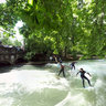 Surfing at the Eisbach (Ice River)