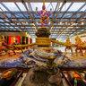 スワンナプーム国際空港- 乳海攪拌(にゅうかいかくはん)のシーン [バンコク, タイ]