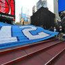Times Square NYC - Super Bowl 2014 Seahawks Flag