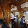 Restaurant in Trans-Mongolian Train