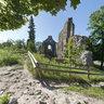 Siguldas pilsdrupas. Sigulda Medieval Order's Comture Castle ruins.