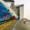 "Floating out of ""Norwegian Breakaway"" on Meyer Werft in Papenburg,Germany"