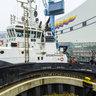 "The ""Norwegian Breakaway"" on Meyer Werft in Papenburg, Germany"