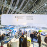 Exhibition area of the ministry of economy and technology in Hall 2 on Hannover Fairs 2013