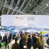 The exhibition area of the german ministery of economy and technology in Hall 2 during Hannover Fairs 2013