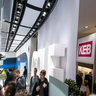 Exhibition area of Volkswagen AG in Hall 15 during Hannover fairs 2013