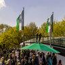 Ministerpräsident Stephan Weil und Ehrengäste beim Fotoshooting zur Eröffnung des Hannover 96-Renntages auf der Neuen Bult