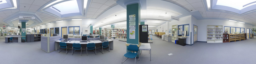 Saint-Jean Library, by service desk