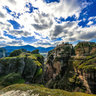Meteora Varlaam Monastery Far View Greece