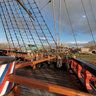 On the deck of Batavia ship, Lelystad, the Netherlands