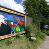 Painting on the wall - Freetown Christiania, Copenhagen
