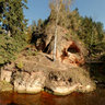 Lustuzis - Cave Rock in Ligatne, Latvia