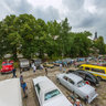 International gathering of antique cars in Jurmala, Latvia