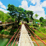 Hanging Bridge along Sevilla River in Bohol