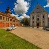 Firehouse and monastery in Slavonski Brod
