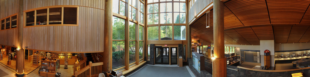 Mt.St.Helens Visitor Center at Seaquest State Park, Washington (#1)