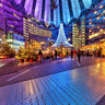 The Sony Center During Christmas