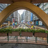 Circular Pedestrian Bridge In Causeway Bay(銅鑼灣圓形天橋), HK