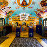 Luncani wooden church (interior)