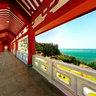 Fujian Putian Mazu Cultural Park  Long Corridor  in Meizhou Island