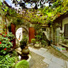 World Cultural Heritage: Small garden in Hongcun Village