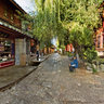 yunnan Old Town of Lijiang street landscape 2 The ancient city of morning