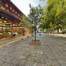 yunnan Old Town of Lijiang street landscape 3 Heaven Rain and Creation grow memorial archway