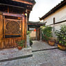 yunnan Old Town of Lijiang the small Ilonn Hotel garden buildings 1