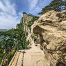 Shaanxi Xi'an Mt. Huashan 9——the must-pass way Blue Dragon Range