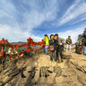 Shaanxi Xi'an Mt. Huashan 19—— the Pine cypress peak of South peak top
