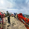 "Shaanxi Xi'an Mt. Huashan 20——South peak height ""Landing Wild Geese Peak"" 2160 M"