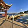 yunnan Ancient City dali——Watching Erhai lake in Waterfront plaza of Erhai Park