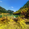 Sichuan UNESCO World Heritage Jiuzhai Valley——The Lying Dragon Lake