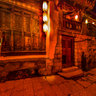 yunnan Old Town of Lijiang The Inn in depths of the alley at night