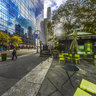 the Bryant Park New York United States——Street landscape outside Bryant park
