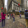 Wall Street New York United States——Streetscape Near New York Stock Exchange
