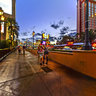 Streetscape 4 of Las Vegas Nevada USA  ——Las Vegas Strip at evening