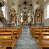 Church in Reckingen, Goms in Wallis, Switzerland