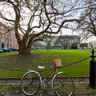 Library square of The Trinity College, Dublin