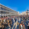 Piazza San Marco in Venezia during the Carnival