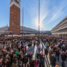 St. Mark's Square in Venice during the Carnival